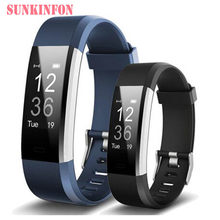 ID115 HR Plus Bluetooth Smart Wristband Bracelet Fitness Sleep Tracker Pedometer Heart Rate Monitor for Cubot X15 X12 X17 X9 X6(China)