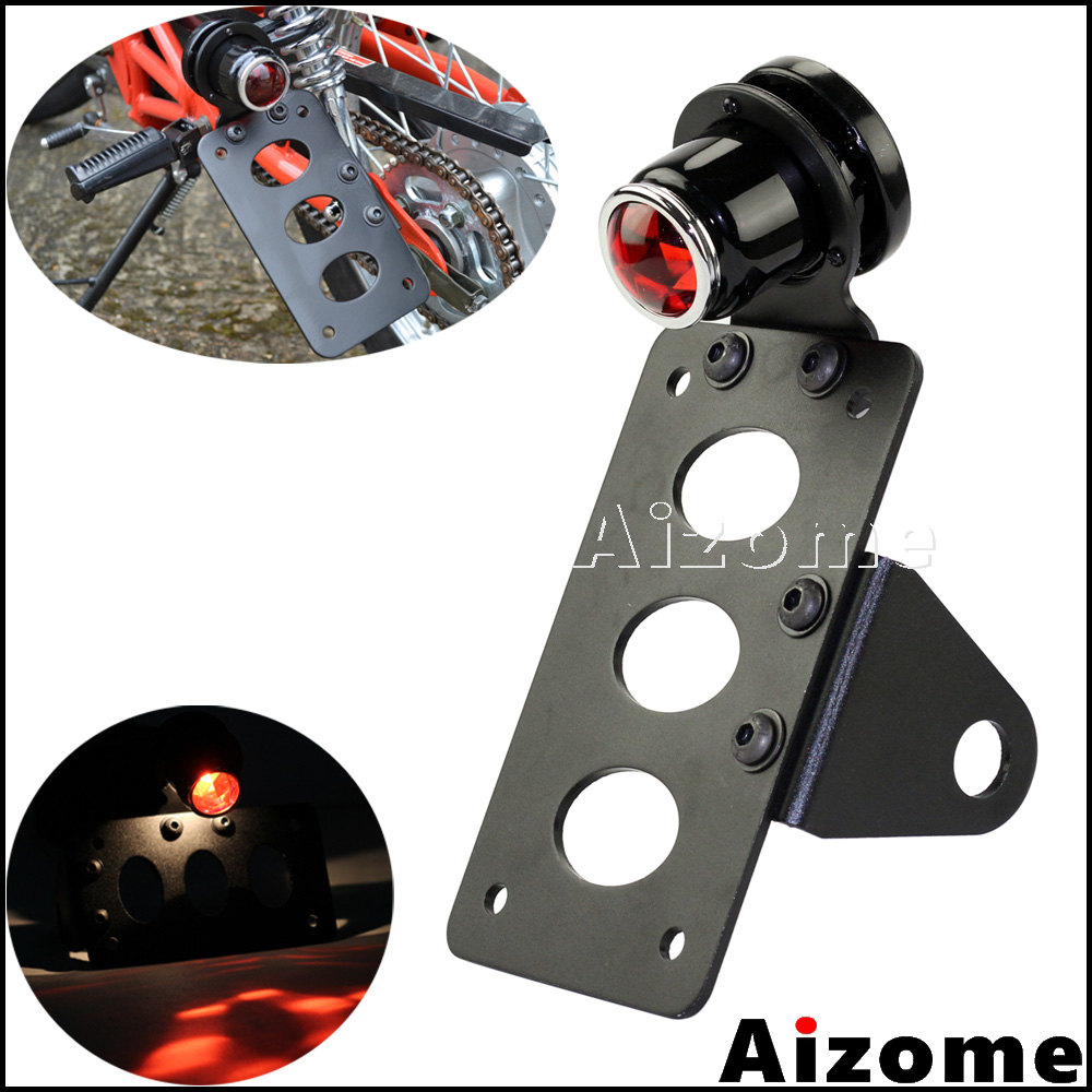 Motorcycle Side Mount Tail Light W/ 7