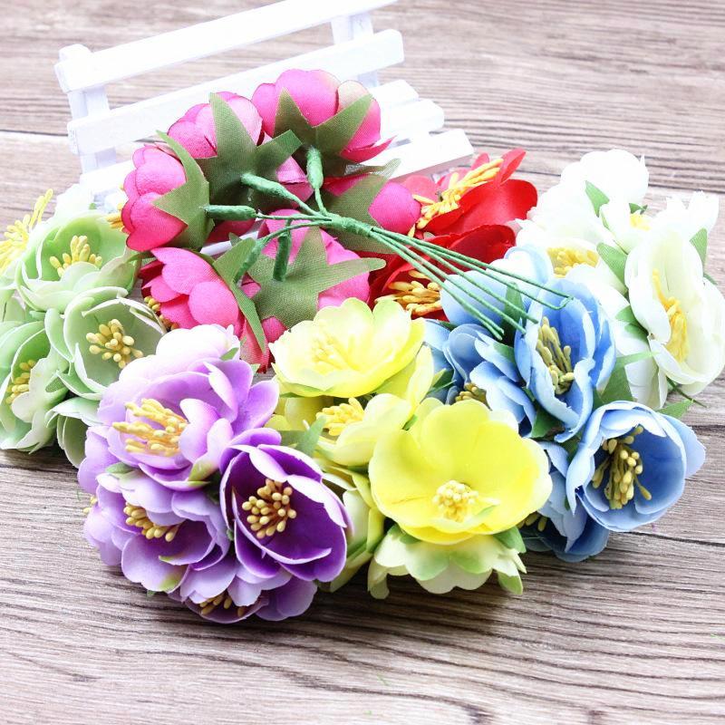 unidslote seda artificial flores color de rosa decoracin de la boda ramo de