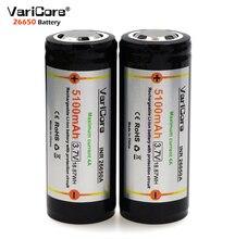 Varicore 3 adet. 26650 3.7 V Lityum Pil 26650 4A yüksek deşarj akımı koruyucu kurulu Pil vurgulamak için el feneri