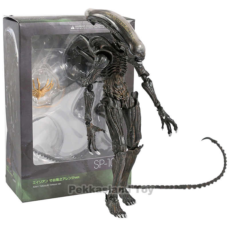 FIGMA SP-108 Alien/SP-109 Predator 2 Takayuki Takeya Ver. PVC Action Figure Collectible Model Mainan