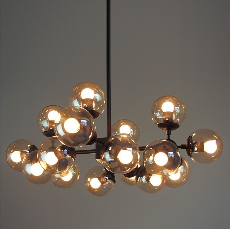 Винтажный круглый шар промышленный чердак железный подвесной светильник с ячейками и стеклянным круглым шаром Классическая светодиодная ...