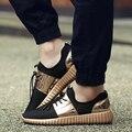 Pareja Superestrella Aire malla de Oro Brillante de Los Hombres Casuales Zapatos de Moda de Verano Transpirable Resistente Al Aire Libre Con Cordones sapatos casuais