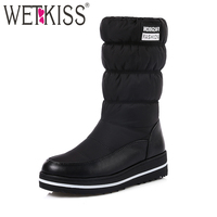 WETKISS 2017 New Plus Size 35 44 Plush Warm Down Snow Boots Women Skid Proof Wedges