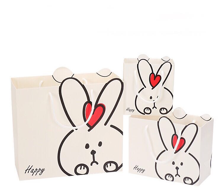 Emerra 30x27x12cm Lovely Creative Rabbit Gift Bag Baby Full Moon Children 39 s Birthday Handbag in Gift Bags amp Wrapping Supplies from Home amp Garden