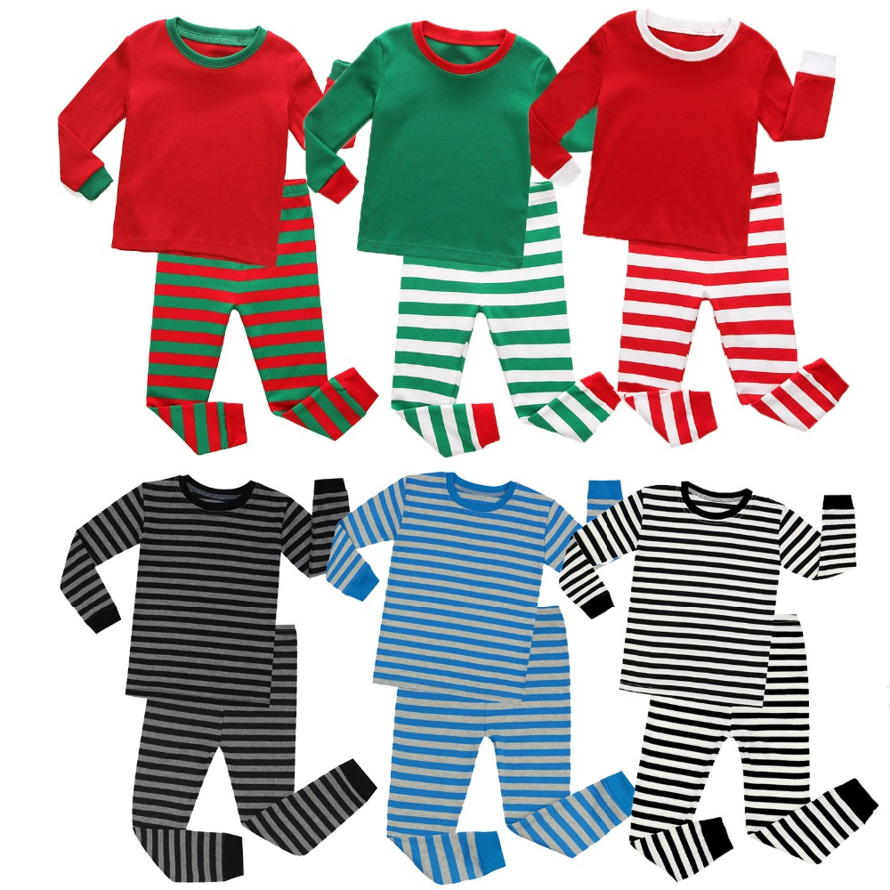 95ae3e06d7 Detail Feedback Questions about Girls Cotton Pajamas 2 8T Baby Boys  Sleepwear Christmas Children Striped Nightwear Baby Cute Pyjamas Long  Sleeve Home ...
