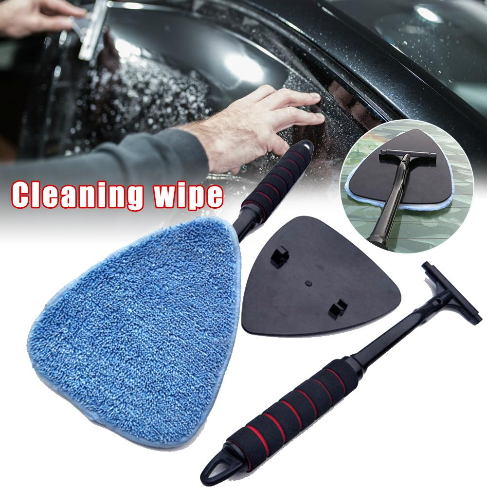 Multi-function Windshield Cleaning Brush Durable Triangular Glass Wiper Cleaner ABS Plastic car clean tool