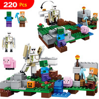 My World Series Educational LegoINGlys Mine World Building Blocks For Toddlers Iron Golem Clever Toys Construction