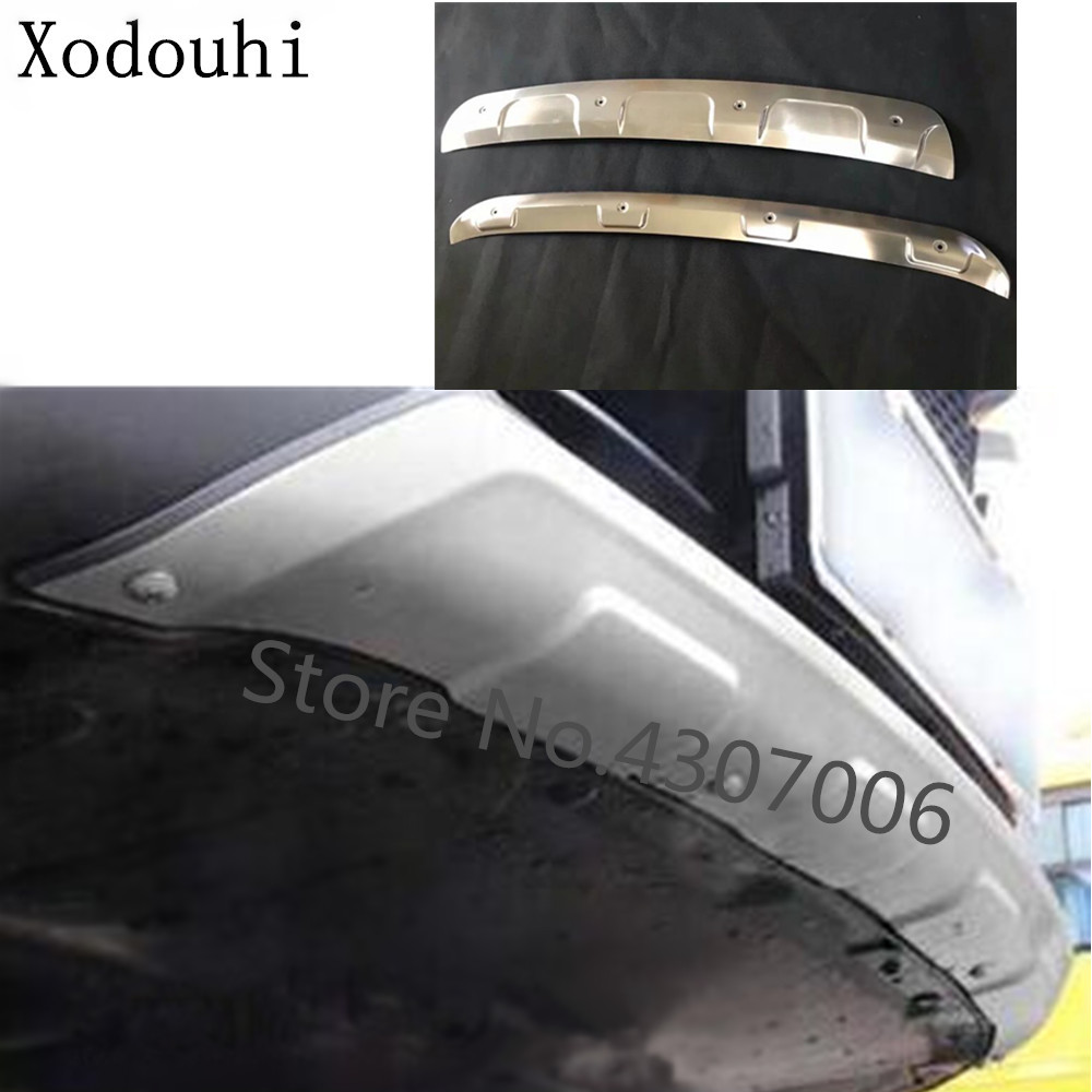 Car Protection Bumper Stainless Steel Trim Front Head/rear Back Hoods Bottom Part For Mazda CX8 CX 8 2017 2018 2019 2020|Chromium Styling| |  -