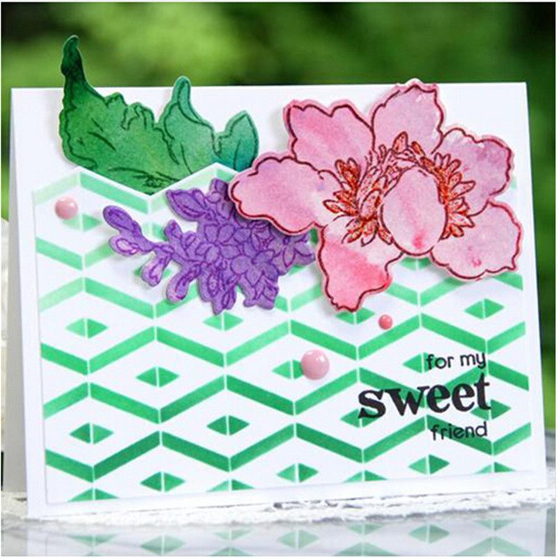 Step Builder Stencil for DIY Scrapbooking Embossing Paper Cards Decorative Crafts Plastic Drawing Sheets Template Gift decore