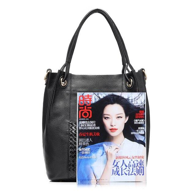 REALER brand design women genuine leather bag high quality women handbag red/gray/black tote bag female leather shoulder bag