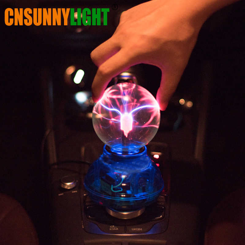 CNSUNNYLIGHT Car Music Sound Control LED USB Plasma Ball Electrostatic Lamp Decoration Atmosphere DJ Lights Party Magic Lighting