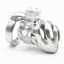 Newest 3D Design Stainless Steel Male Luxury Chastity Device Cock Cage Penis Cage PA A359-1