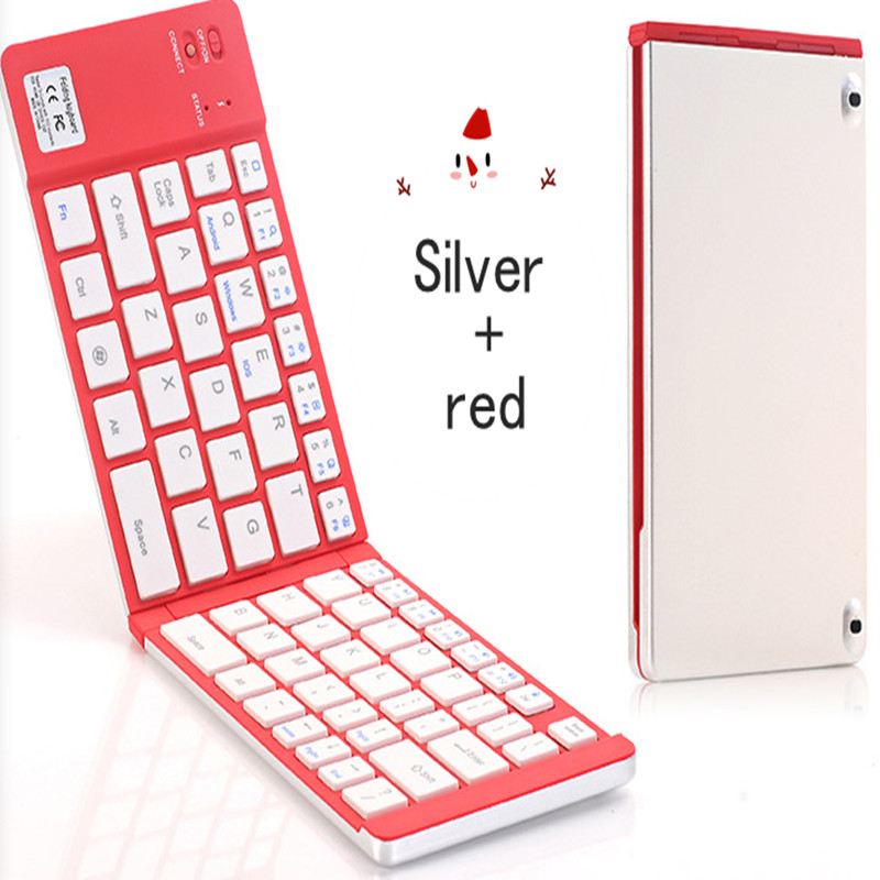 KuWFi Portable Bluetooth Folding Keyboard Mobile Phone Computer Universal Creative Pocket Double Folding Keyboard in Keyboards from Computer Office