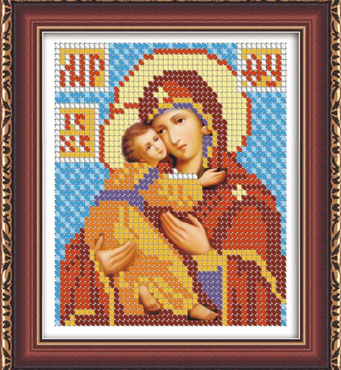 diy 5d ikoner rund diamantmålning religion broderikit för Rysslands - Konst, hantverk och sömnad