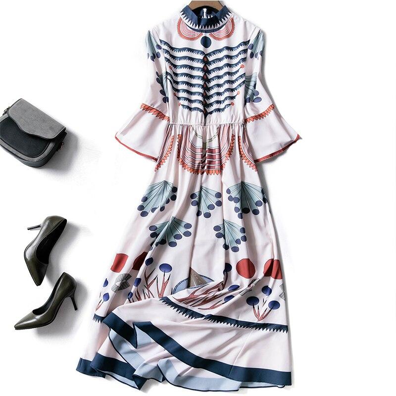 В сезон весна лето, новинка и классные светлые тона новый стиль и классные светлые цвета носят с высокой талией платье. - 3