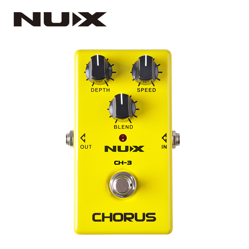 NUX CH-3 Electric Guitar Effect Pedal Chorus Low Noise BBD True Bypass High Quality Guitarra Effect Pedal hand made loop electric guitar effect pedal looper true bypass 3 looper switcher guitar pedal hr 1