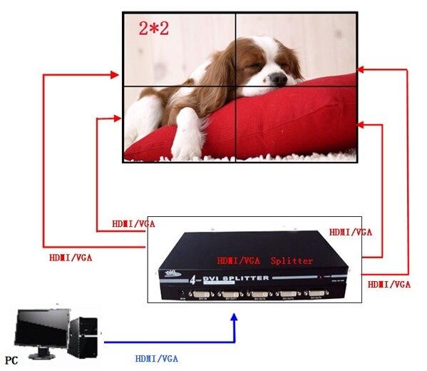 Gap 6.7mm bezel 46 inch Cabinet floor standing LCD Splicing Video ...