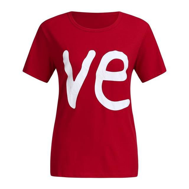 Hot sale Lovers Couple Summer Funny Couple T Shirts Heart Love
