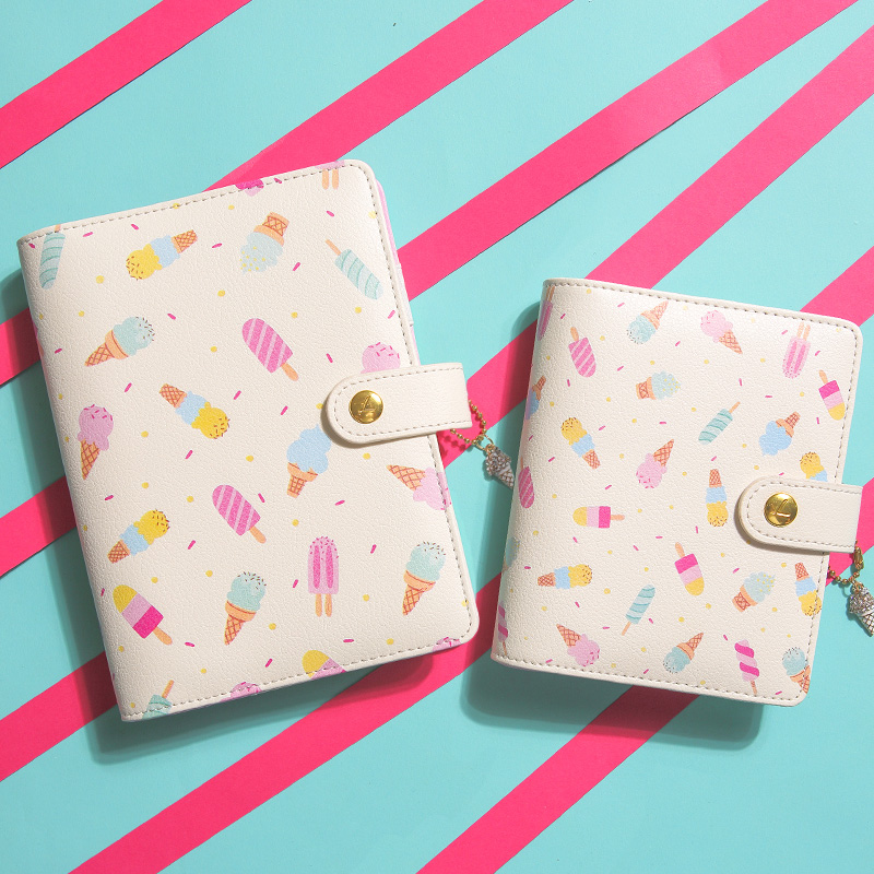 Ice cream Hello Summer Personal Diary Planner Kawaii Cute Creative Notebook Sweet Agenda Organizer Gifts Stationery gift boutique endless summer ice cream recipe book