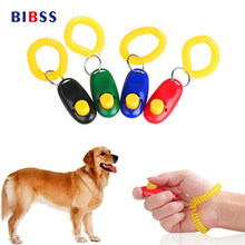 Pet Dog For Click Training Clickers Light Weight Toys Obedience Trainer Aid With Wrist Strap Accessories(China)