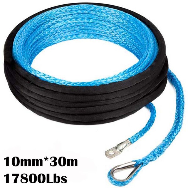New Strong 100% UHMWPE Synthetic Winch Cable/Rope 10MM*30Meter w/t for 4WD/ATV/UTV/SUV Winch Use////free shipping