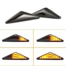 2 шт. светодиодный динамический боковой маркер указатель поворота последовательный мигалка свет для Ford MONDEO 2000-2007 MK 3 Фокус MK1 1998-2004