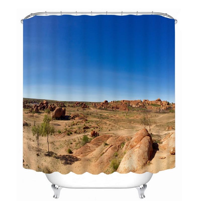 MYRU 3D Print Waterproof Desert Shower Curtains Bath