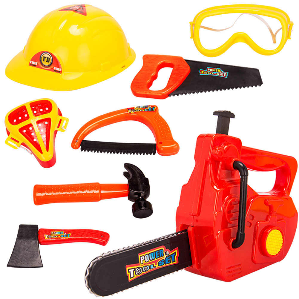 LeadingStar 8 шт. набор пластиковых инструментов для ремонта игрушки для детей, для ролевых игр, Рабочий костюм для мальчиков и девочек zk30