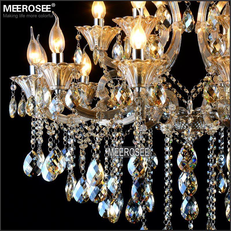 Maria Theresa Cristal Candelabru Lumină de coniac LED Lustru de - Iluminatul interior - Fotografie 5