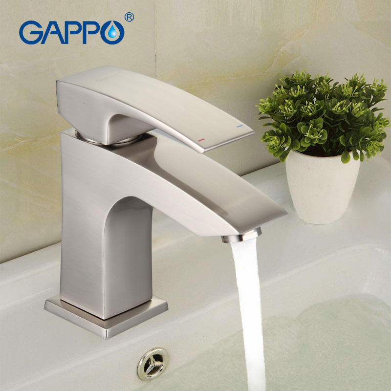 GAPPO Bathroom Basin Faucet Mixer Brass Filtered Water Taps Polished Sink Faucet Deck Mounted Drains Torneiras Cozinha G1007-5 polished chrome waterfall flow bathroom sink basin mixer faucet double handles wall mounted mixer taps