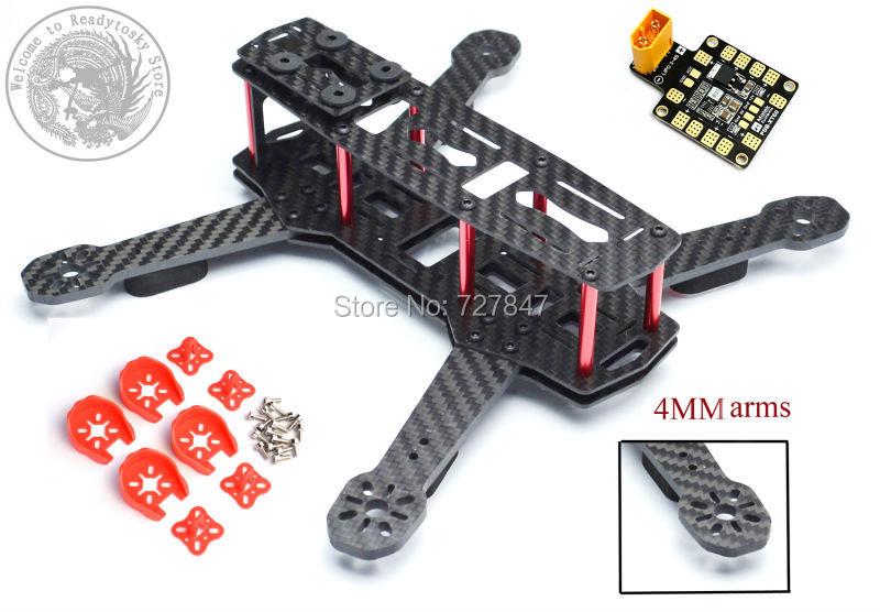 DIY FPV ZMR250 V2 Cross Race Quadcoper Frame With 4mm Replacement Arm Mini Drone H250 Carbon Fiber QAV250 diy carbon fiber frame arm with motor protection mount for qav250 zmr250 fpv mini cross racing quadcopter drone