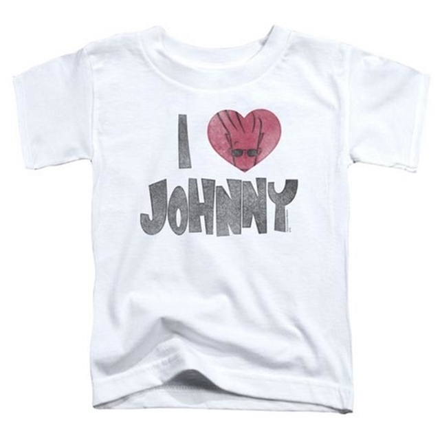 Trevco Johnny Bravo-I Heart Johnny – Short Sleeve Toddler Tee – White & Medium 3T