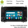 1024X600 Android 6.0.1 Octa Ядро Автомобильный DVD Для Mercedes Benz Sprinter W169 W245 Viano Vito W639 W906 3 Г WI-FI Gps-навигация Радио