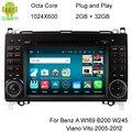 1024X600 Android 6.0.1 Octa Core Car DVD For Mercedes Benz Sprinter W169 W245 W906 Viano Vito W639 3G WIFI GPS Navigation Radio