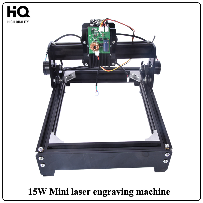 New 15W Mini Laser Engraving Machine Marking laser cutting machine (140mm*200mm)For Wood Leather Metal Stainless Steel Ceramics