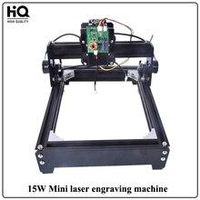Yeni 15 W Mini Lazer Oyma Makinesi Işaretleme lazer kesme makinesi (140mm * 200mm) Için Ahşap deri Metal Paslanmaz Çelik Seramik
