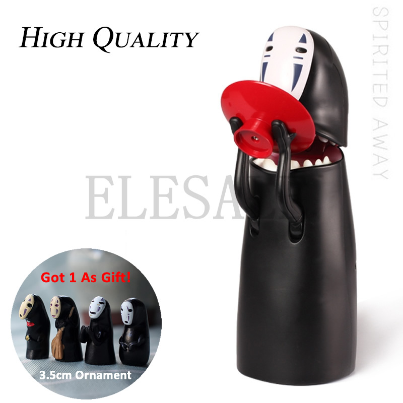 Spirited Away Kaonashi No-Face Steal Coin Piggy Bank Electronic Plastic Money Safety Box Coin Bank Automatic Eaten Coin Bank цены