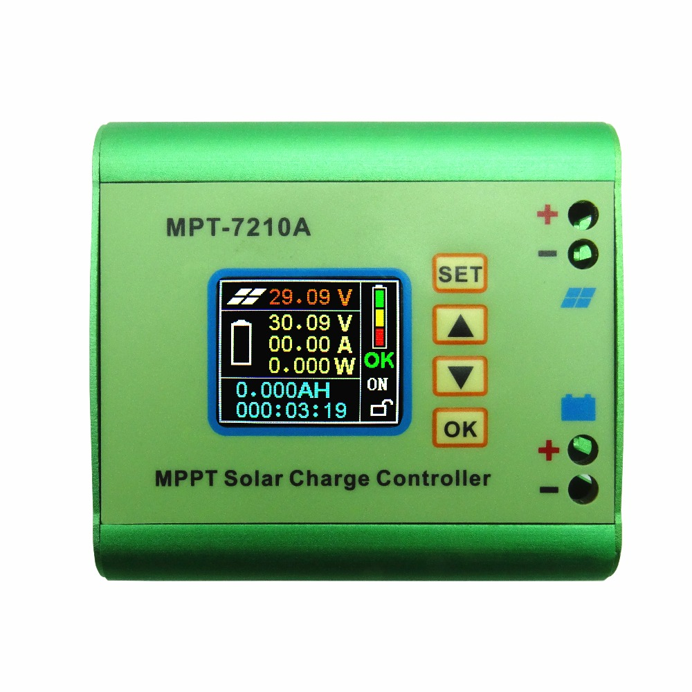 ФОТО mppt solar controller voltage meter cnc boost module 24v to 72v battery charger 10a