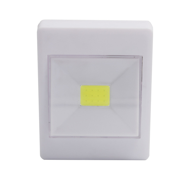 1 Mode Cob Led Night Light Switch Wall Lights Battery Operated Kitchen Cabinet Garage Closet Camp