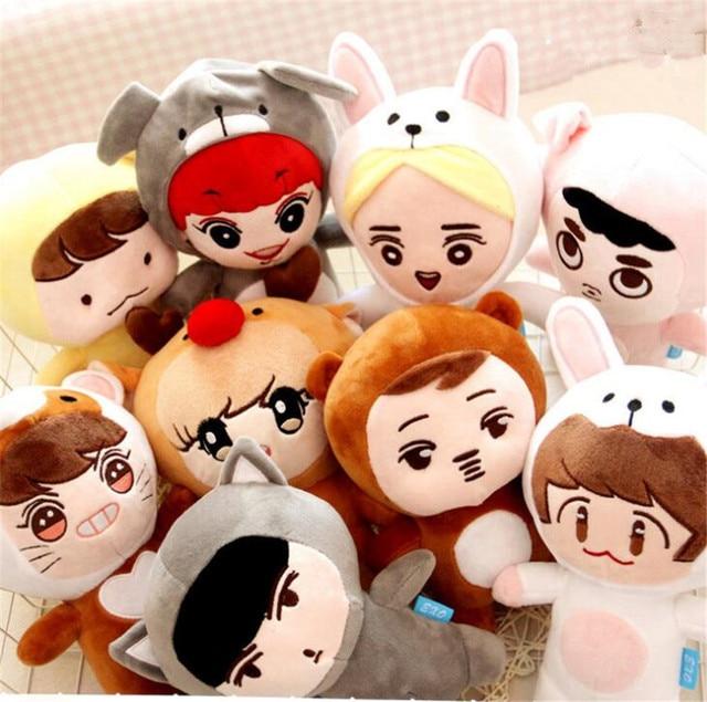 24cm Anime KPOP EXO DO Plush Toys Kawaii Doll Doh Kyungsoo Baby Toy Soft Fans Handmade