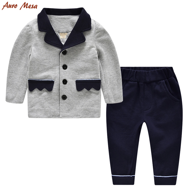 Fashion Toddler Boy Clothing set Gentleman Kids boys suits 100 Cotton Infant Boys Party Set Formal