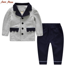 Mode Enfant Garçon Vêtements set Gentleman Enfants garçons costumes 100% Coton Infantile Garçons Party Set Formelle Porter