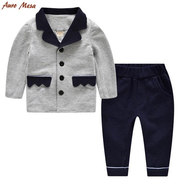 23da29b7c3b5 Fashion Toddler Boy Clothing set Gentleman Kids boys suits 100 ...