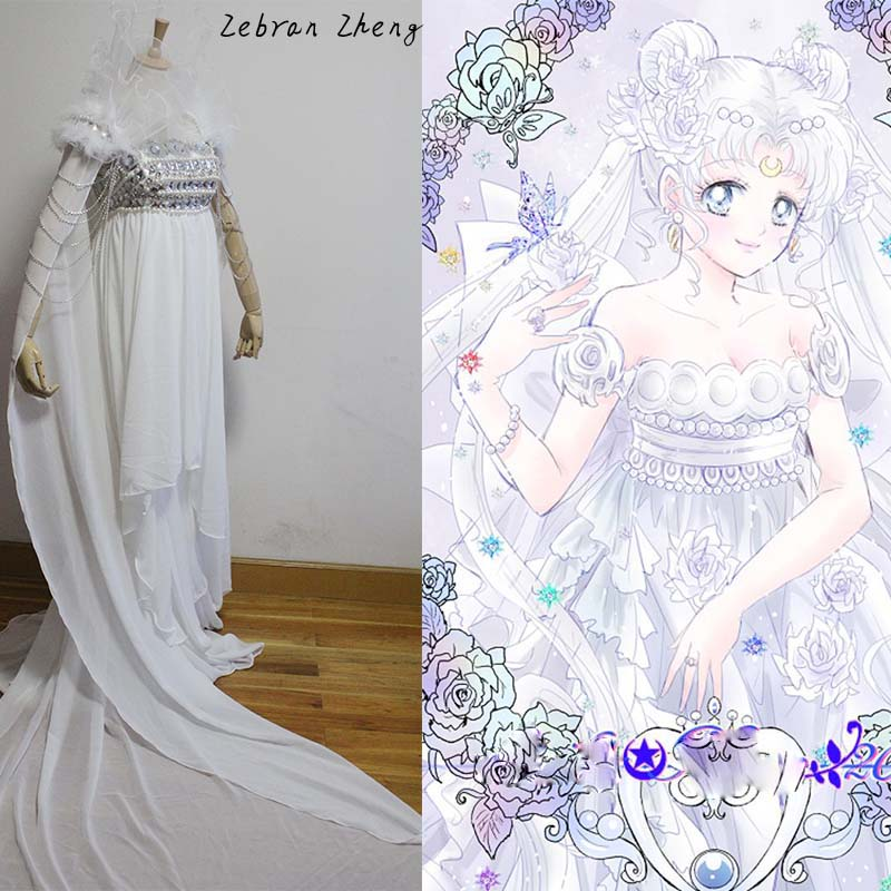 Top Quality Sailor Moon Cosplay Costume Princess Serenity
