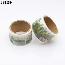 JBFISH 1PC 30mm*5m Ice Cream Washi Tape Printed Greetings For You Adhesive Cute Scrapbooking Decorative Paper 9013