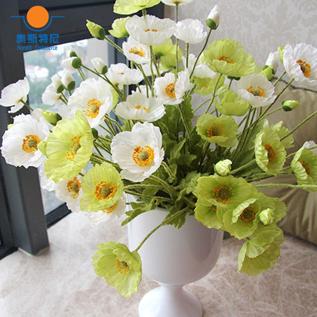 Online shop 5pcs artificial flower bouquets artificial corn poppy sale mightylinksfo