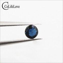 3mm Yüksek kaliteli yuvarlak parlak kesim safir gevşek taş 100% gerçek safir gevşek taş safir madeni Çin