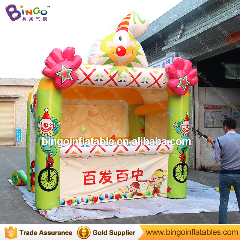 Customized 3x3.5x4.4 M Inflatable balloon shooting games booth funny carnival games for Kids and Adults toy kiosk made in China super funny elephant shape inflatable games kids slide toy for outdoor