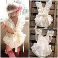Bebê recém-nascido Meninas Sunsuit Romper Floral Lace Ruffle Romper Jumpsuit Roupas